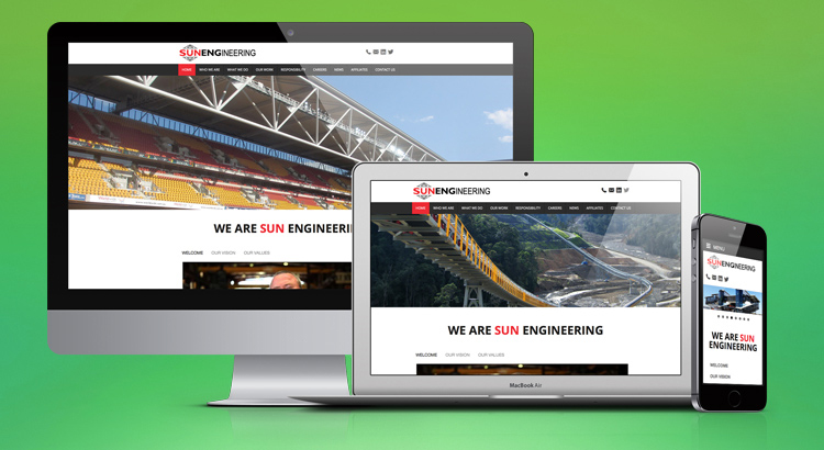 Sun Engineering Website Development Brisbane - OnePoint Software Solutions