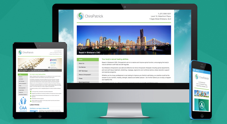 ChiroPatrick Website Development Brisbane - OnePoint Software Solutions