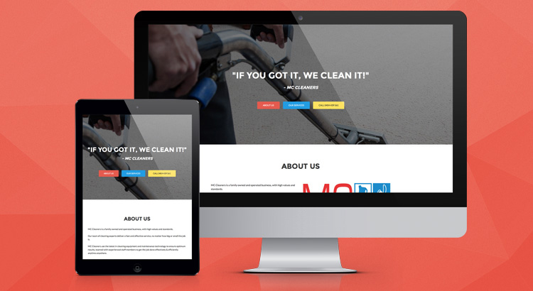 MC Cleaners Website Development Brisbane - OnePoint Software Solutions