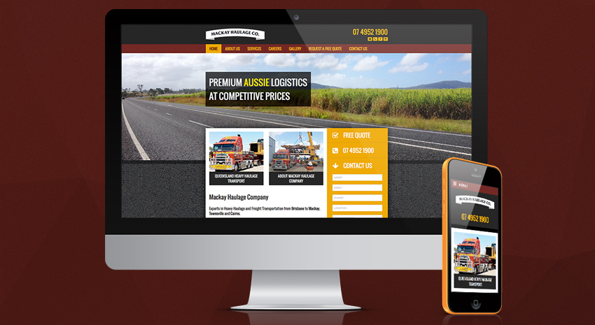 Mackay Haulage Company - Brisbane Web Design - OnePoint Software Solutions
