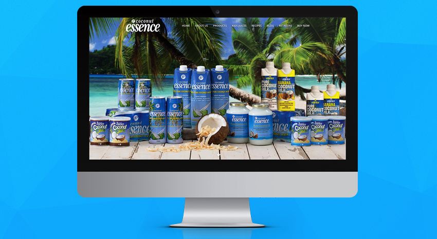 brisbane-web-design-coconut-essence