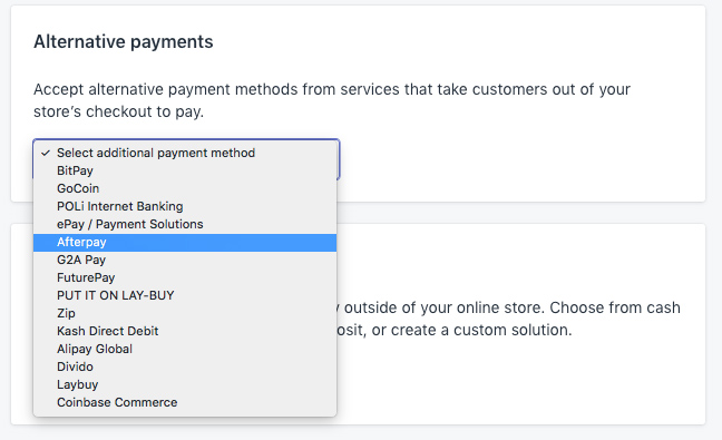 How to setup Afterpay with Shopify - OnePoint Software Solutions