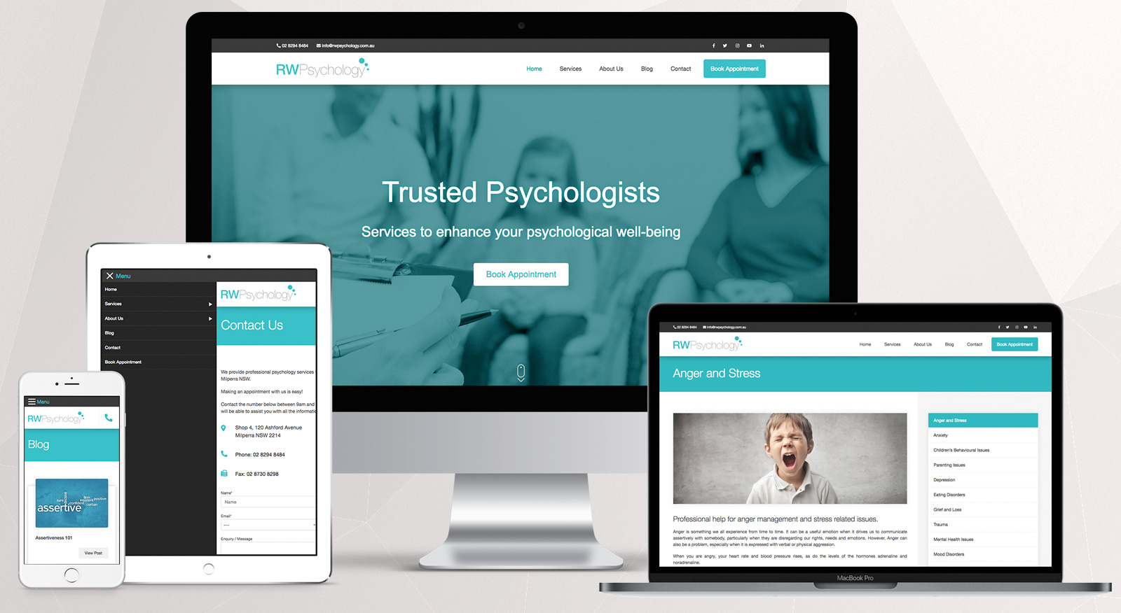 rwpsychology-springfield-website-design-brisbane-onepoint-software-solutions