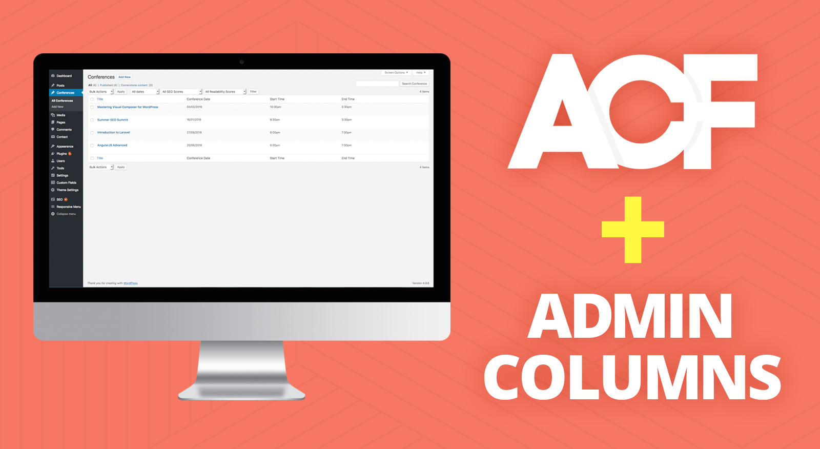 How to add ACF Values to WordPress Admin Columns - OnePoint