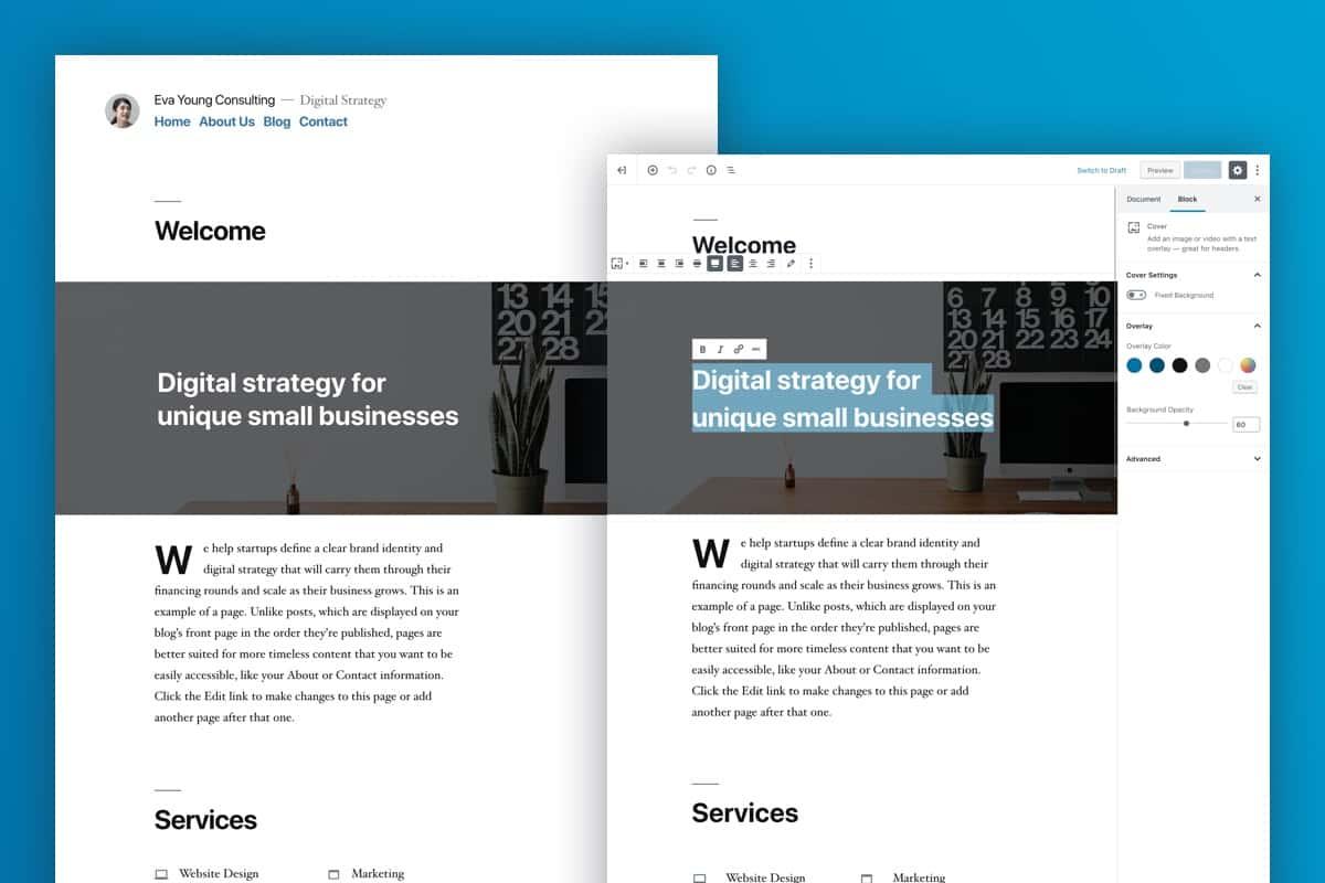 WordPress-5-Gutenberg-OnePoint-Software-Solutions-Twenty-Nineteen