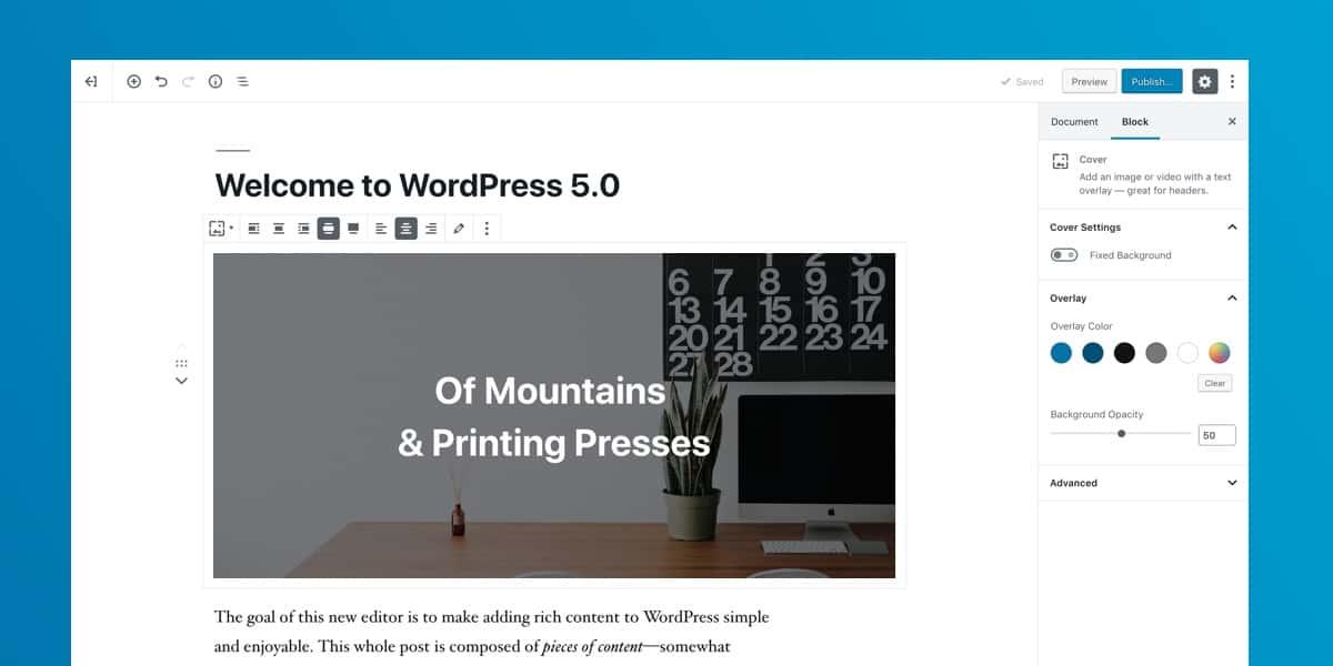 WordPress-5-Gutenberg-OnePoint-Software-Solutions
