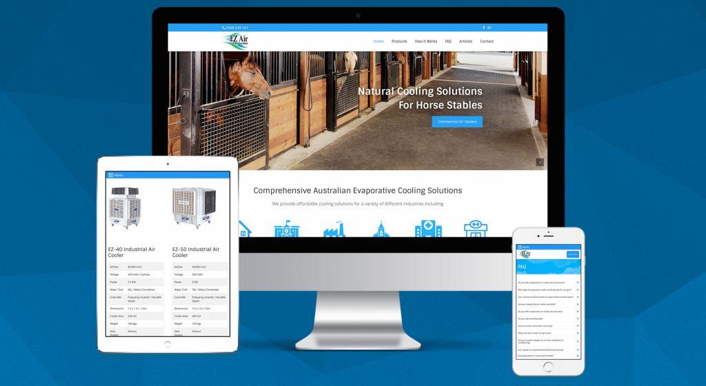 ez-air-website-design-brisbane-qld-onepoint-software-solutions