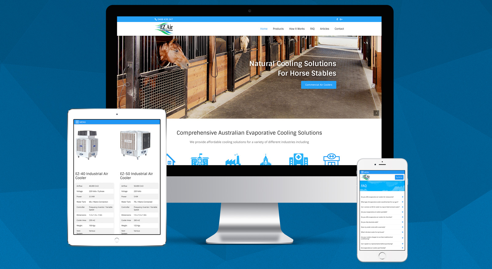 ez-air-website-design-brisbane-qld-onepoint-software-solutions