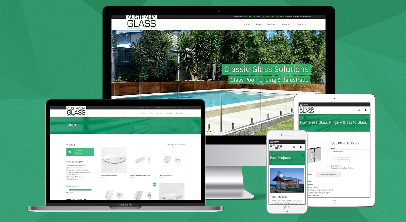 australia-glass-brisbane-website-design-onepoint-software-solutions