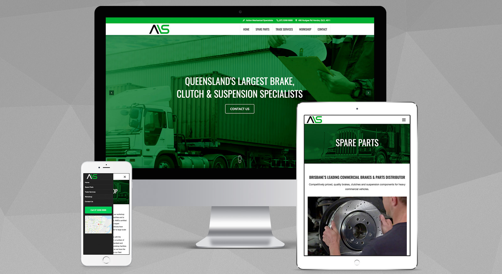 ams-brisbane-truck-mechanic-website-design-qld-onepoint-software-solutions