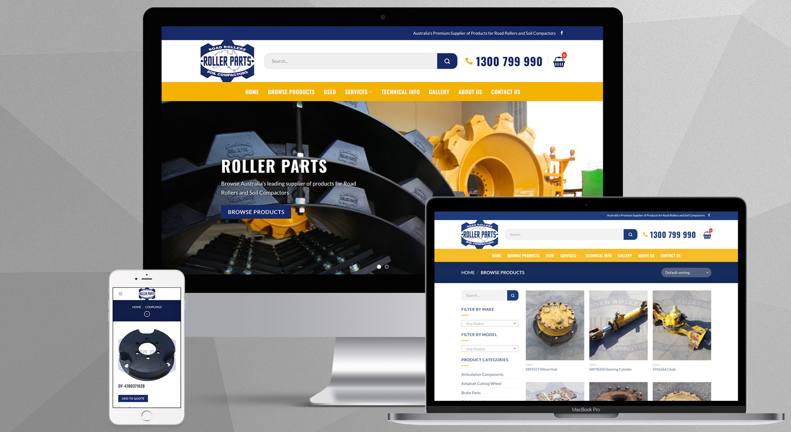 roller-parts-australia-website-design-brisbane-onepoint-software-solutions