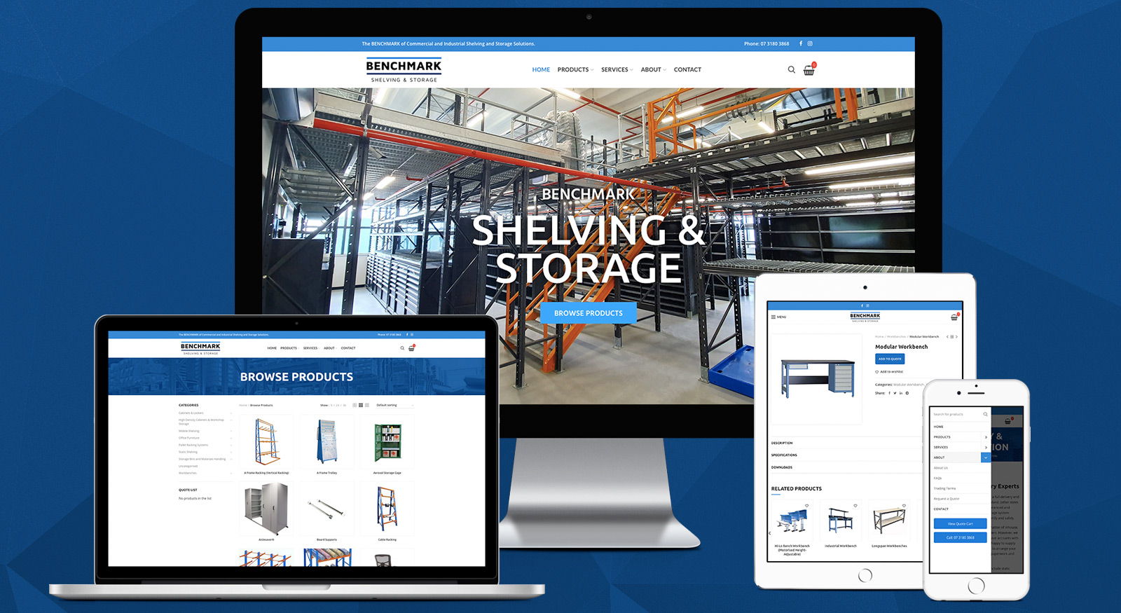 benchmark-shelving-storage-website-design-brisbane-onepoint