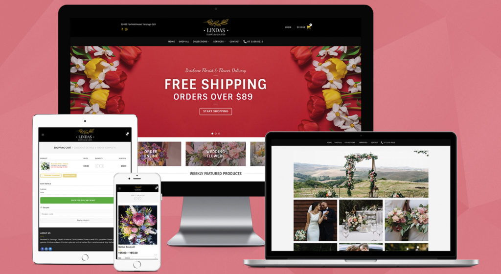 lindas-flowers-gifts-yeronga-brisbane-florist-website-design-onepoint-solutions