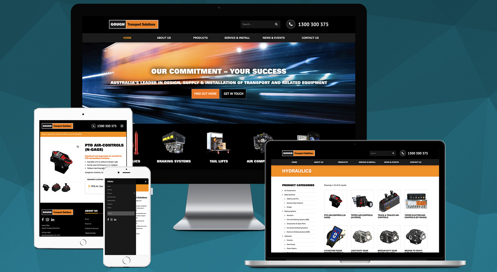 Gough Transport Solutions Website Design - Brisbane Web Developers OnePoint Soluitions