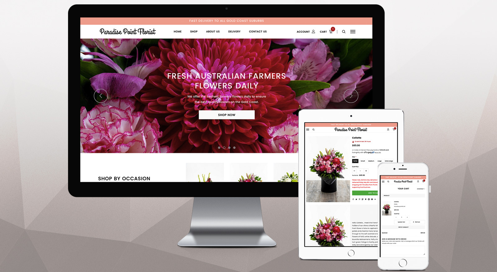 Paradise Point Florist - Website Design Gold Coast by OnePoint Solutions