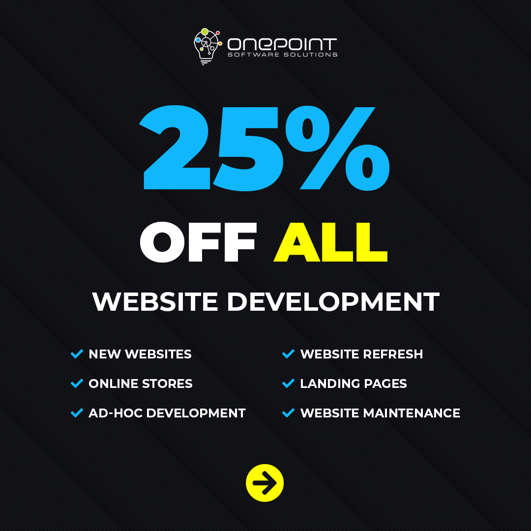 Black Friday Special Web Design Brisbane - OnePoint Solutions 2020
