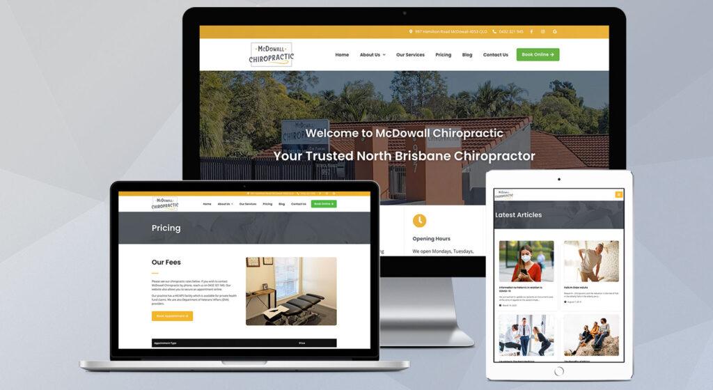 McDowall Chiropractic - OnePoint Solutions - Website Design Brisbane QLD Australia