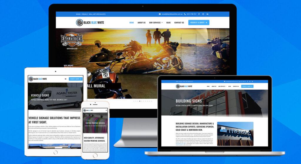 Black Blue White - Website Design Brisbane & Ipswich QLD - OnePoint Software Solutions